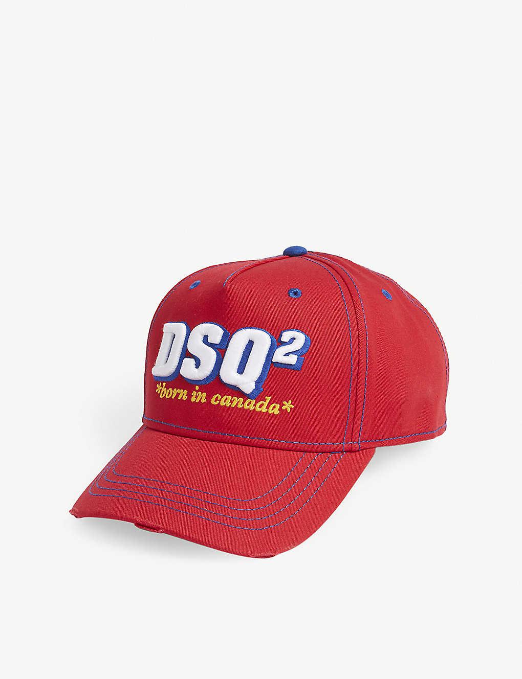cca370dd DSQUARED2 - Born in Canada cotton strapback cap | Selfridges.com