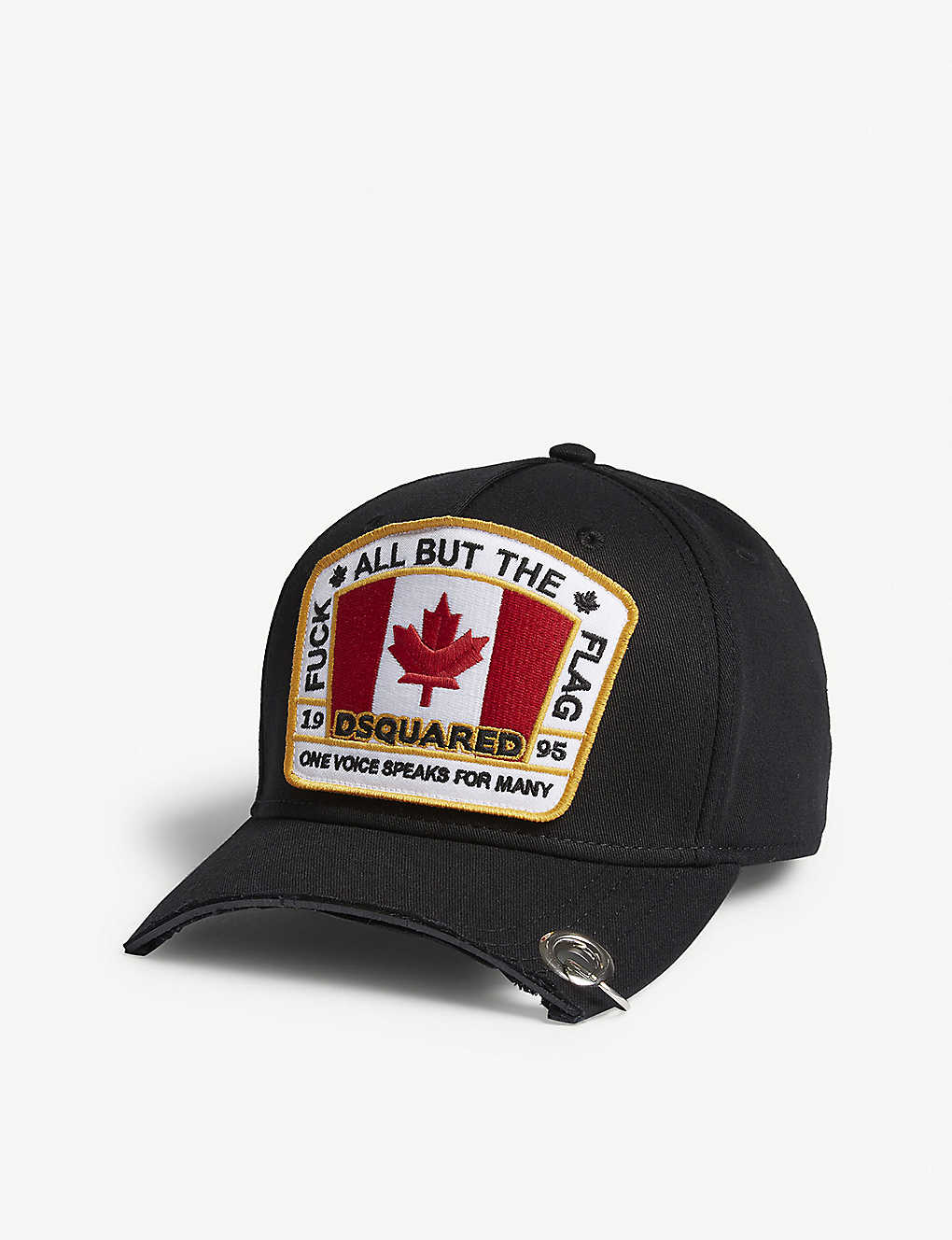 05aa3d551f684d DSQUARED2 ACC - Flag patch cotton strapback cap | Selfridges.com