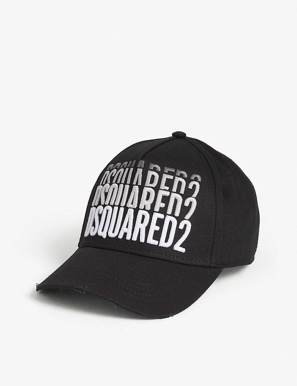 a94fb638e DSQUARED2 - Graident logo cotton baseball cap | Selfridges.com