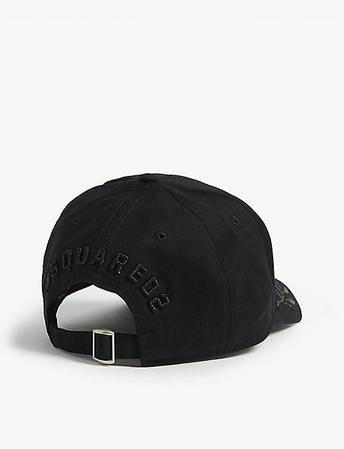 DSQUARED2 Icon laurel wreath cotton baseball cap