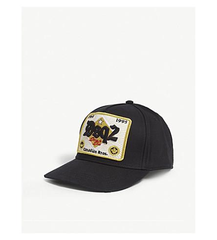 ac10390f4eb DSQUARED2 - Gothic patch cotton strapback cap