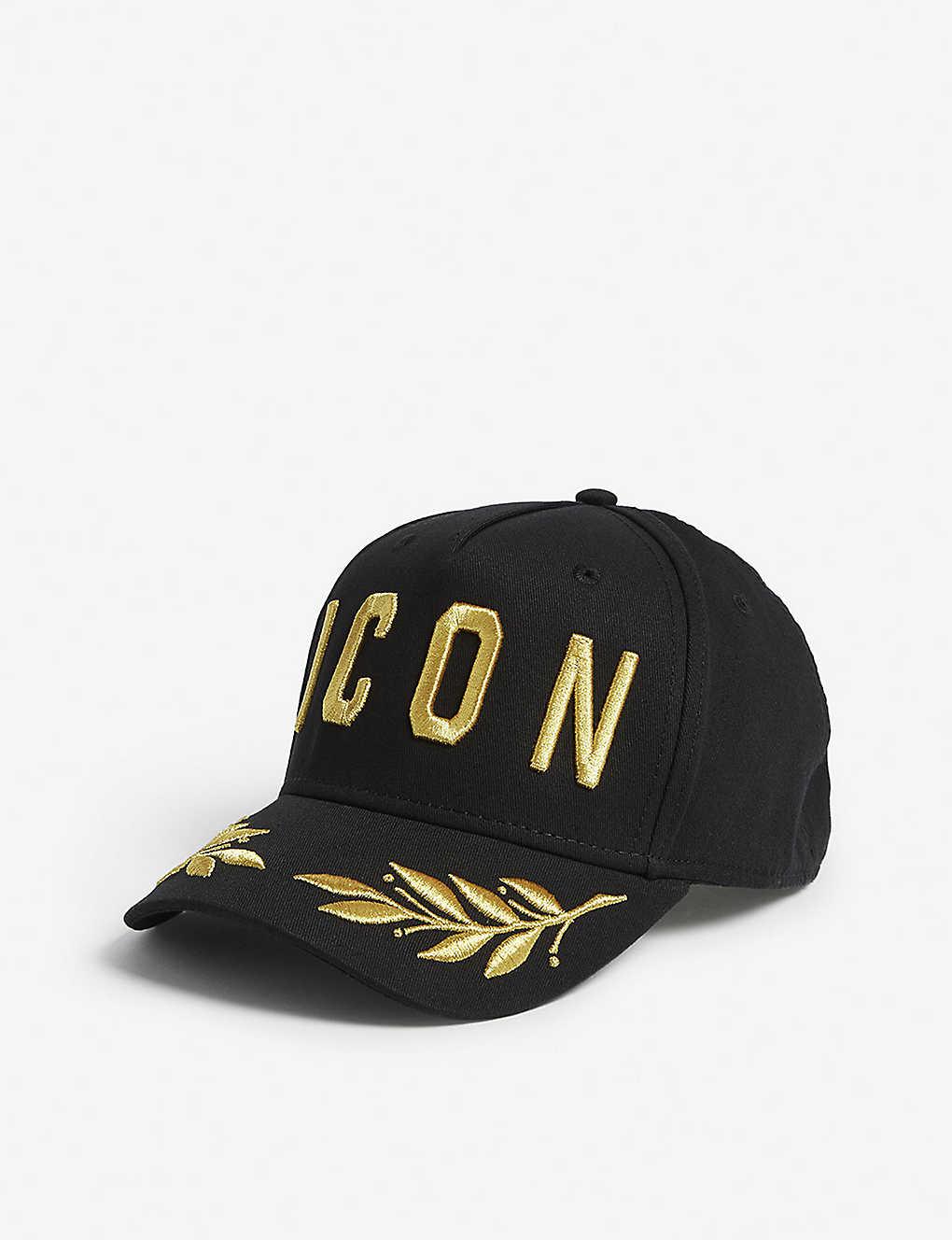 425a811e DSQUARED2 ACC - Icon laurel wreath cotton baseball cap | Selfridges.com