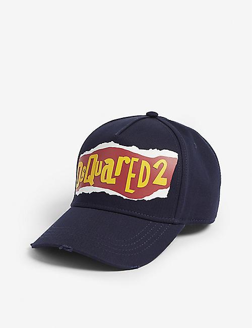dcfba1af6ac DSQUARED2 Torn logo cotton baseball cap