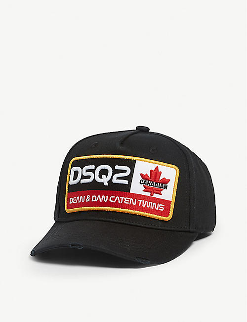 5c5f66364cebf DSQUARED2 Logo-appliquéd cotton baseball cap