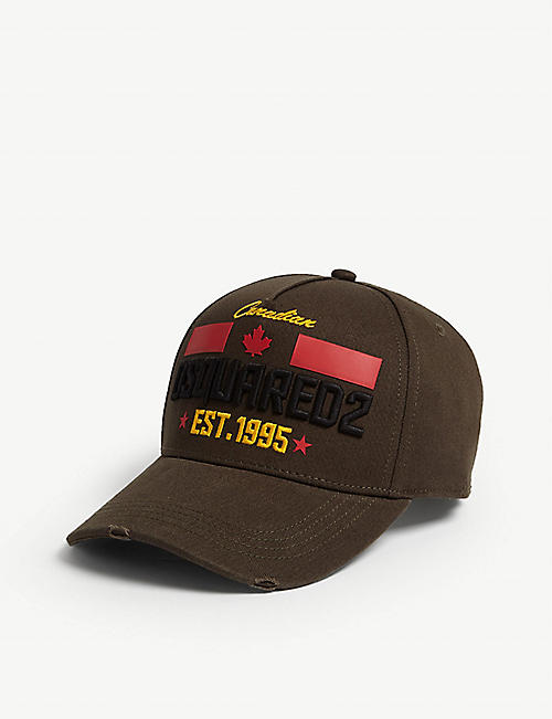 DSQUARED2 ACC Embroidered branding cotton baseball cap
