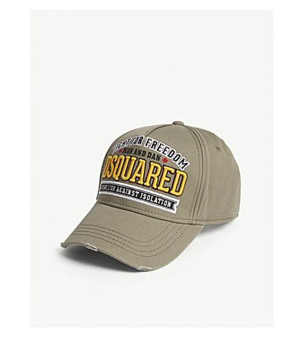b0e024c6a72 DSQUARED2 Freedom cotton strapback cap (Militare