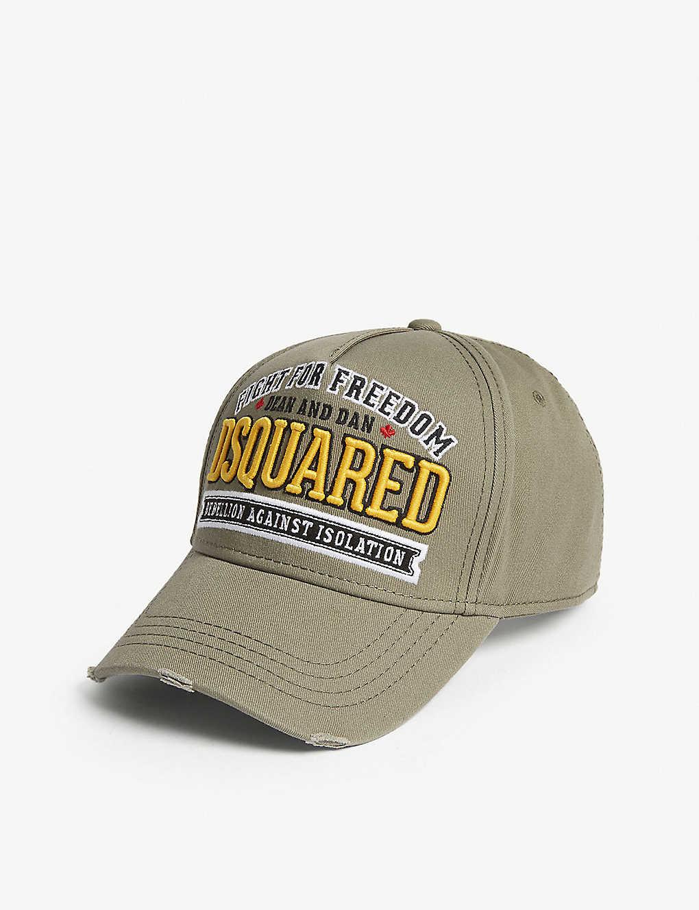 4324286a91df5a DSQUARED2 - Freedom cotton strapback cap   Selfridges.com