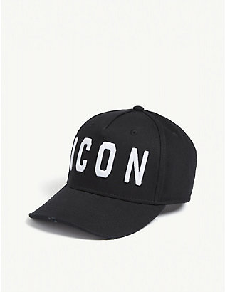 DSQUARED2 ACC: Icon-embroidered cotton baseball cap