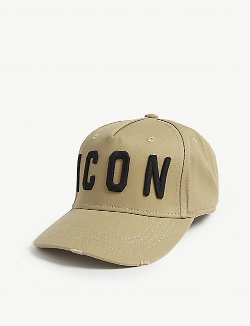 793d5d6a9e5d5 DSQUARED2 Icon-embroidered cotton baseball cap