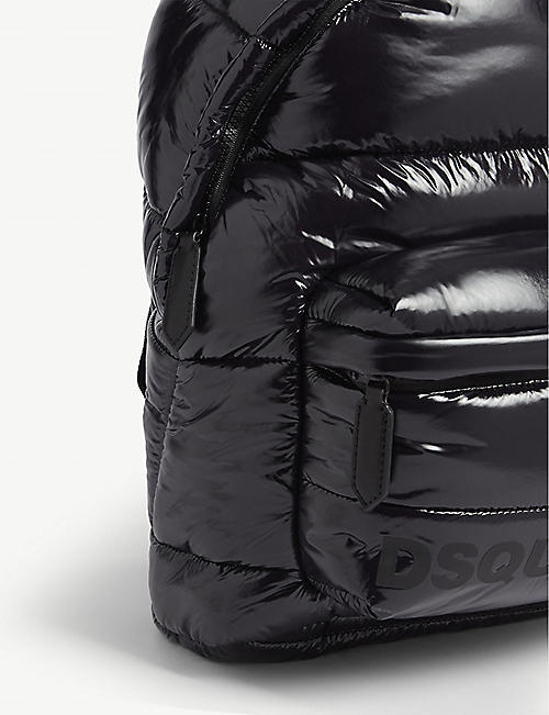 DSQUARED2 Logo quilted nylon backpack