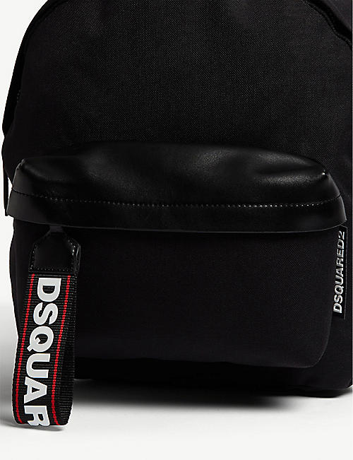 DSQUARED2 ACC Logo tag nylon backpack