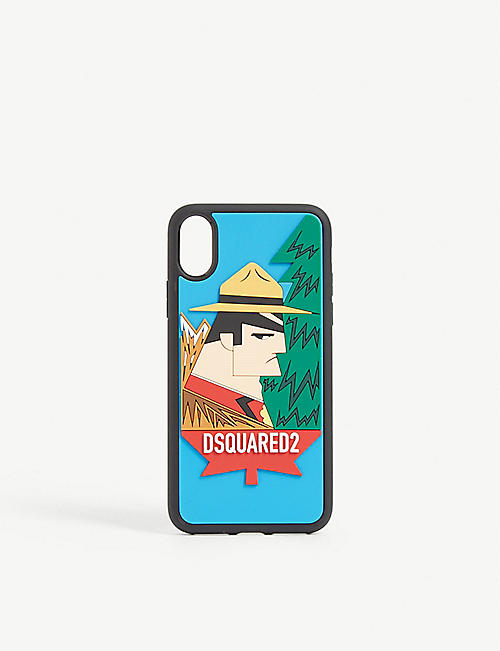 DSQUARED2 Embossed iPhone X case