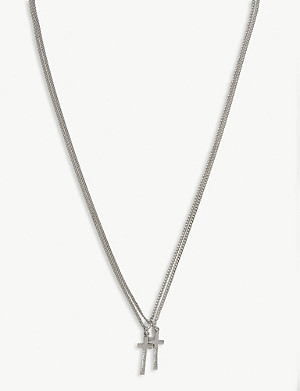 DSQUARED2 ACC Double cross necklace
