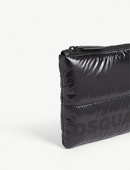 DSQUARED2 Logo quilted nylon pouch