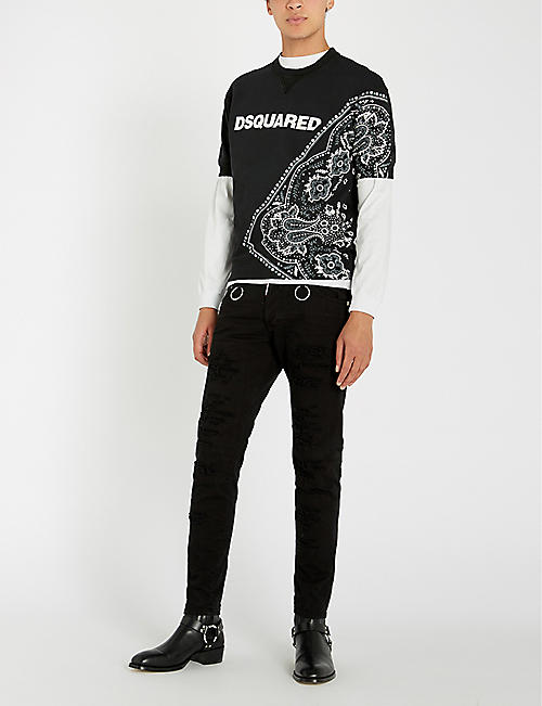 DSQUARED2 Tribal-print cotton-jersey T-shirt