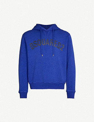 DSQUARED2 Logo-print cotton-jersey hoody