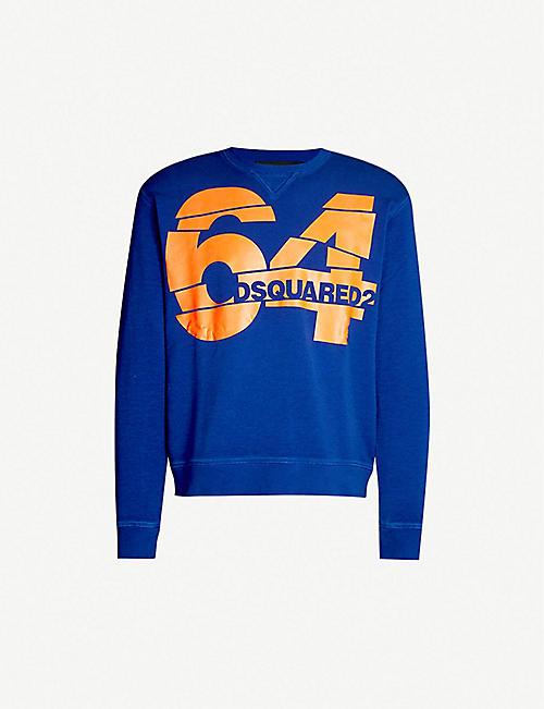 81be4b1d31 DSQUARED2 64 logo-print cotton-jersey T-shirt