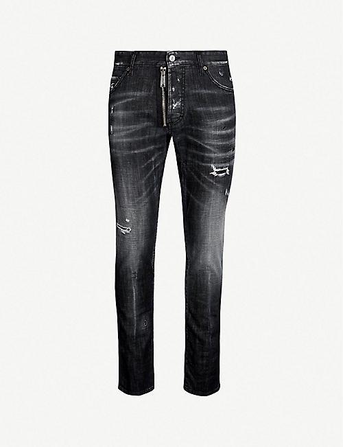 e75fbdc668 DSQUARED2 Ripped slim-fit skinny jeans