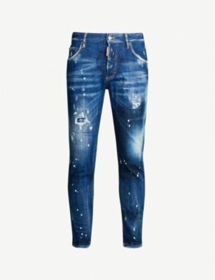 DSQUARED2 Ripped faded skinny jeans