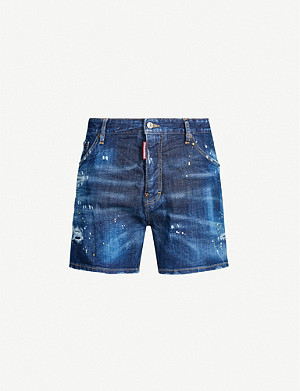 DSQUARED2 Distressed stretch-denim shorts