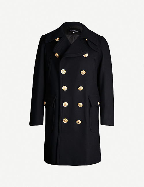 DSQUARED2 Double-breasted wool-blend coat