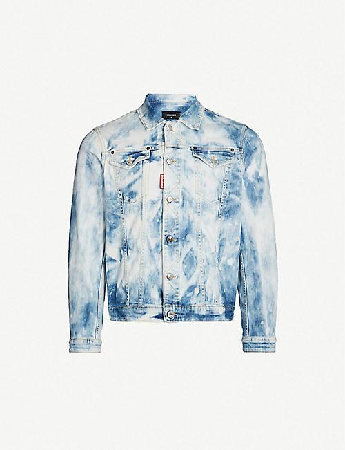 f64ab79ae7 DSQUARED2 Dan bleached denim jacket