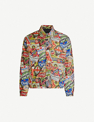 DSQUARED2 Beer-print nylon jacket
