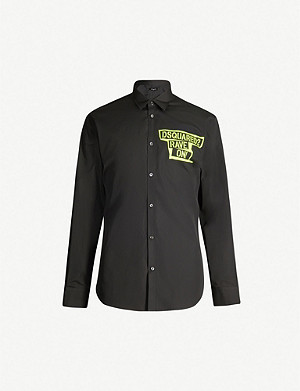 DSQUARED2 Rave On-print regular-fit cotton shirt