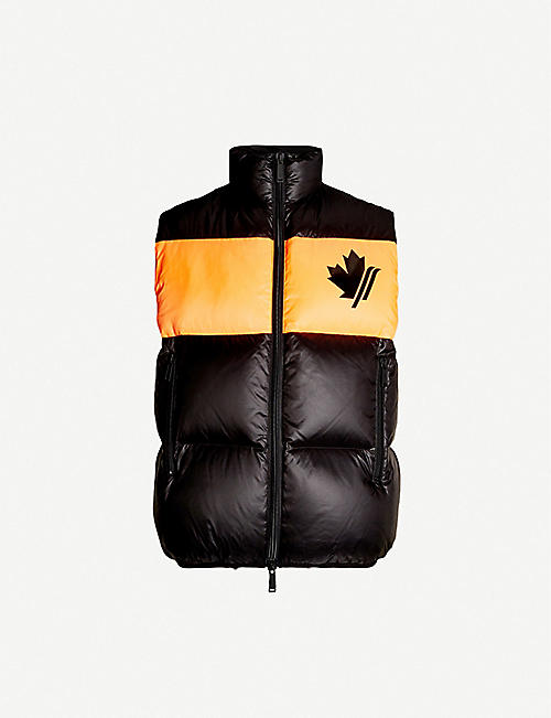 DSQUARED2 Maple leaf-print padded gilet