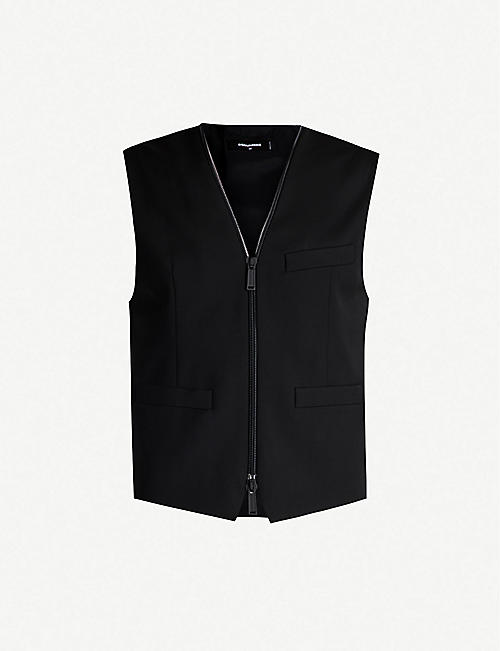 DSQUARED2 Zip-down wool-blend gilet