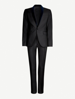 DSQUARED2 Beaded-trim regular-fit wool and silk-blend suit