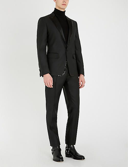 DSQUARED2 Sequin-trim wool and silk-blend suit
