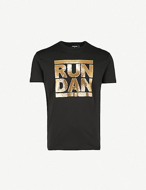 3bbdea247d1 DSQUARED2 Run Dan cotton-jersey T-shirt
