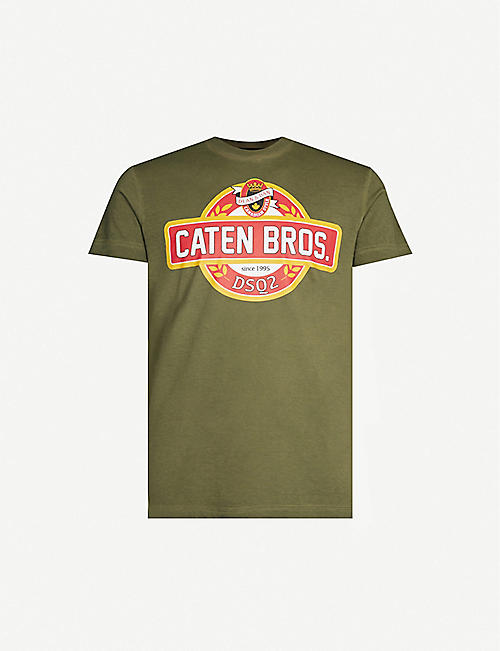 a6ab9174bc051d DSQUARED2 Graphic-print cotton-jersey T-shirt