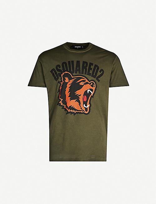 c967b6d05 DSQUARED2 Tiger-print cotton-jersey T-shirt