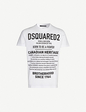 DSQUARED2 Text-print cotton-jersey T-shirt