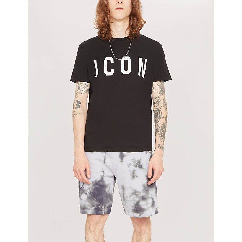 Dsquared2 T-shirts ICON COTTON-JERSEY T-SHIRT
