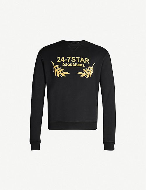 3d851b06 DSQUARED2 24-7 Star cotton-jersey sweatshirt