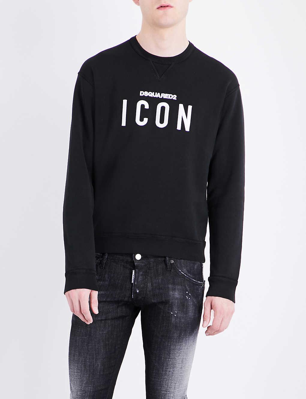 aacbdf56 DSQUARED2 - Icon cotton-jersey sweatshirt   Selfridges.com