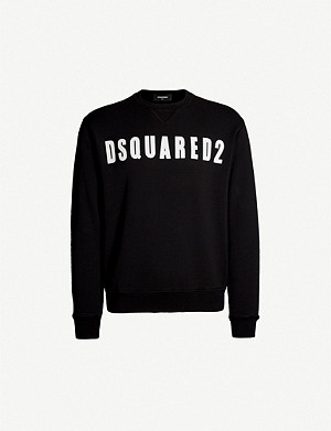 DSQUARED2 Logo-print crewneck cotton-jersey sweatshirt
