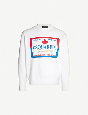 DSQUARED2 Graphic-print cotton-jersey sweatshirt