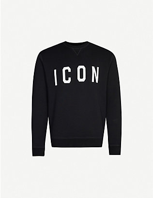 DSQUARED2: Icon cotton-jersey sweatshirt