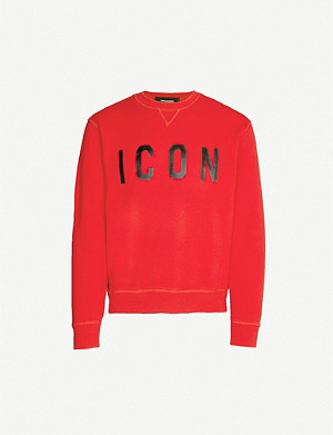 DSQUARED2 Icon cotton-jersey sweatshirt