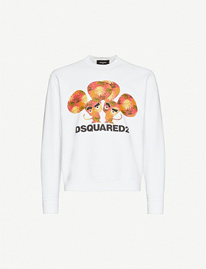 DSQUARED2 Graphic print cotton-jersey sweatshirt