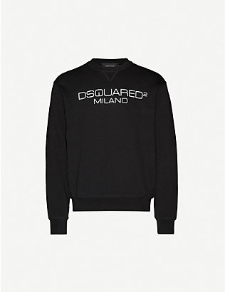 DSQUARED2: Milano crewneck cotton-jersey sweatshirt