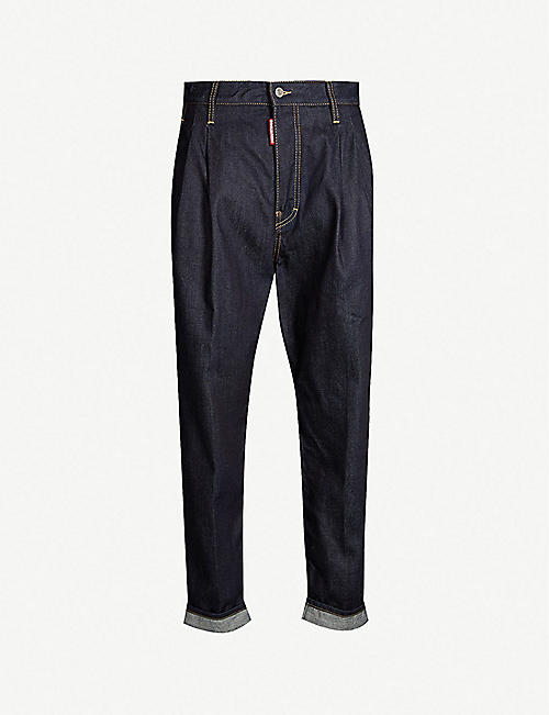 495eeb875e1c DSQUARED2 Pleated regular-fit tapered jeans