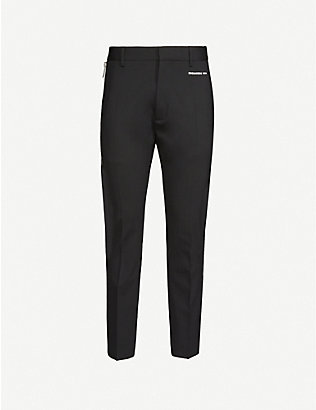 DSQUARED2: Zip-detail stretch-wool trousers