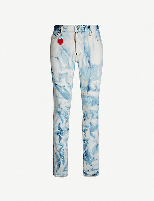 74f29777d85 DSQUARED2 Cool Guy bleached slim-fit skinny jeans