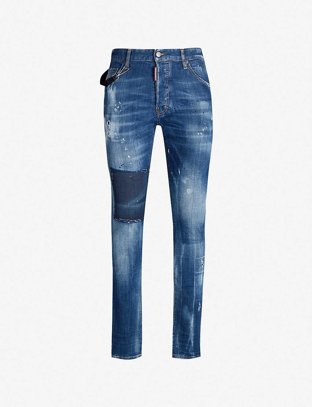 b40d072701 Cool Guy distressed slim-fit skinny jeans - Dark vicious blue ...