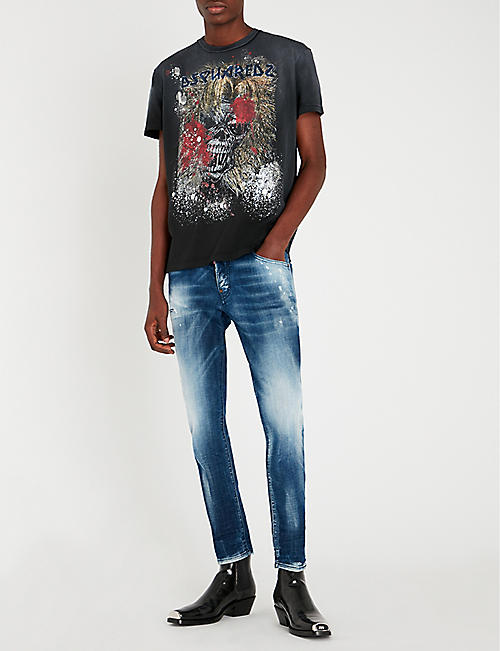 7fd8d42c2efa DSQUARED2 Faded slim-fit straight jeans
